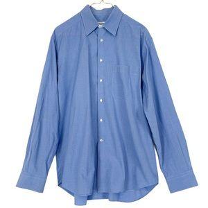 Giorgio Armani Indigo Blue Button Up Dress Oxford